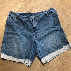 Sonoma Denim Cuffed Hem Short Jeans Sz 20W